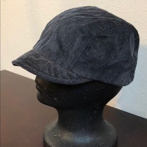 Black NINE WEST Newsboy Hat - Size 57CM